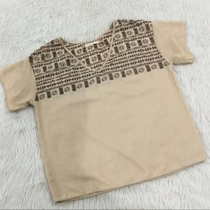 Chelsea and violet brown embroidered blouse